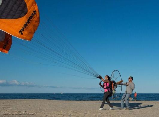 Training for powered paragliding